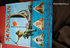 Caderneta de Cromos Sandokan - Emilio Salgari 1976