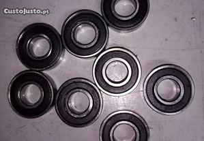Rolamentos 6001 RS. 12x28x8 mm