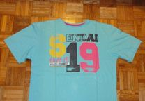 T-shirt de homem azul CS Active Sendai 19
