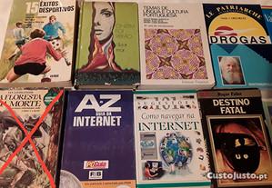 Livros diversos para desocupar