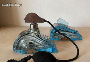 Perfumador e saboneteira Arte Deco em cristal