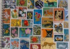 Classificador c/ 200 selos tema