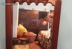 Espelho vintage com bilros