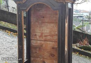 Oratório antigo séc.XlX madeira de castanho