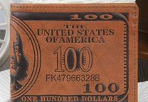 Carteira 100 dólares - Homem