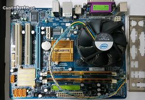 Motherboard Gigabyte + Processador Intel + Memóri