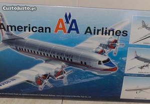 Avião miniatura Douglas DC-7 American Airlines