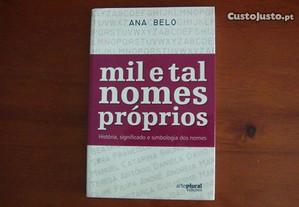 Mil e Tal Nomes Próprios de Ana Belo