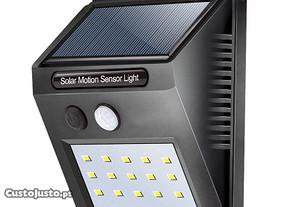 Candeeiro solar sensor movimento 20 LED p exterior