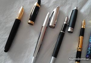 Lote de 11 canetas de aparo para tinta