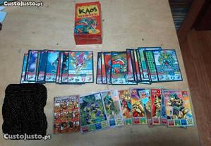 Lote cartas bollycao kaos the game e legend
