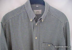 Camisa verde quadriculada -THIS - Tamanho S