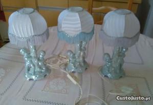 Três candeeiros para quarto de bebê ou criança