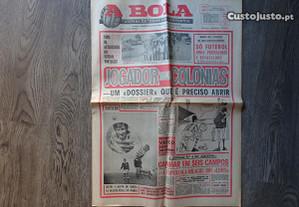 Antigo Jornal A Bola - Outubro 1974