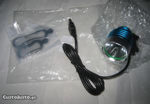 foco de iluminação de ligação USB para bicicletas