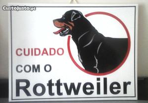NOVO Azulejo Cuidado com o Cão Rotweiler 20X15CM E