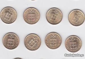 Lote moedas 5$00 LN 1986 a 2000 de Portugal portes
