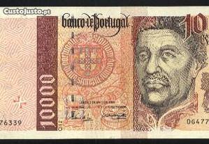 Espadim - Nota de 10.000$00 de 1996 - Bela