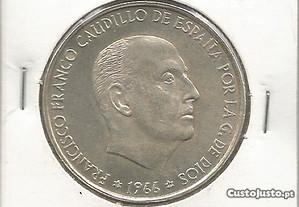 Espadim - Moeda de 100 Pesetas de 1966 - Prata