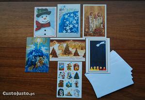 Cartões de Boas Festas, Autocolantes Natal