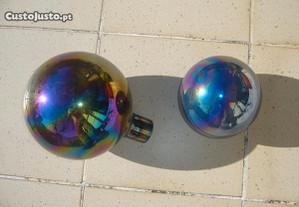 Bolas de vidro coloridas