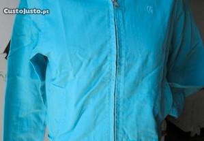 Blusão azul turquesa