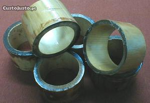 Suporte de guardanapo em bambu - dúzia 4x5cm