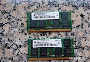 Memória ram 1gb PC2