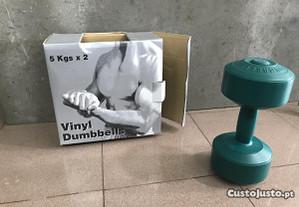 Par de Halteres 2x5Kg revestidos a vinyl