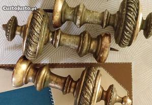 Antiguidades: Suportes em talha dourada do séc XIX