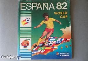 Caderneta de cromos de futebol Mundial Espanha 82