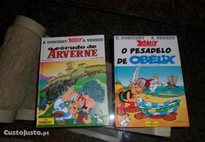 2 livros do Astérix c/ capa dura