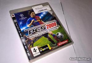 pes 2009 pro evolution soccer (jogo ps3) messi