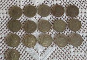 lote de 16 moedas alpaca datas diferentes