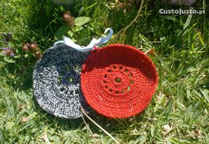 Pegas em croché - artesanais