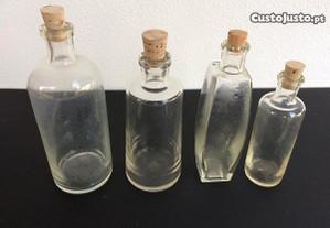4 Frascos antigos de perfumaria