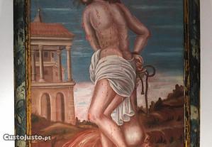 Pintura a óleo de Jesus do Sec. XVI / XVII