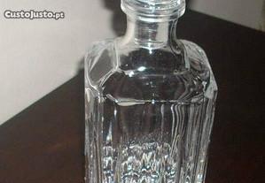 Garrafa antiga cristal lapidado Ponta diamante