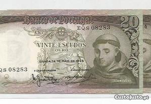 Espadim - Notas de 20$00 de 1964 - Novas