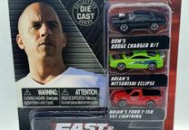 Set 3 Micro carros Fast & Furious 2 comprimento +- 1,65 in
