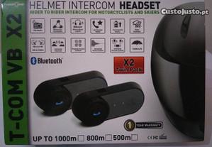 Auricular/ intercomunicador Bluetooth capacet NOVO