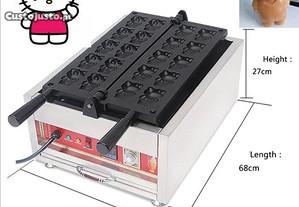 Maquina waffles forma Hello Kitty