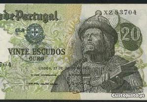 Espadim - Notas de 20$00 de 1971 - Novas