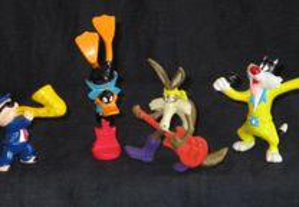 4 Bonecos em PVC Looney Tunes Warner Bros Konica