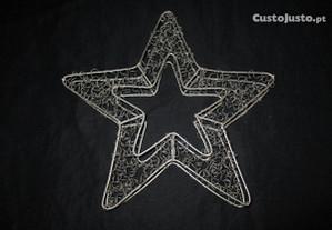 Estrela de Natal em arame cromado