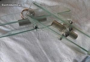 casquilho duplo c/ lâmpada, para espelho ou vidro