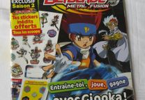 Livro Jogos Spécial Beyblad c/ 3 posteres- Francês