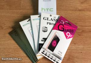 Película de vidro temperado para HTC (Vários)