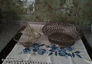 Grande cesta em casquinha com oferta de outra