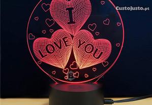 Lâmpada LED 3D